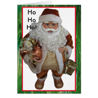 Santa and Stained Glass Card