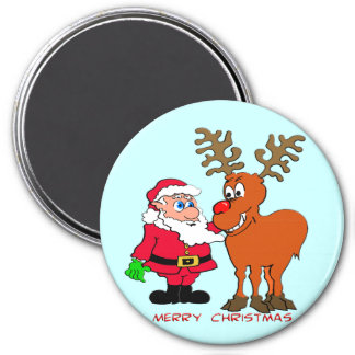Santa and T-Shirts & Gifts Magnet