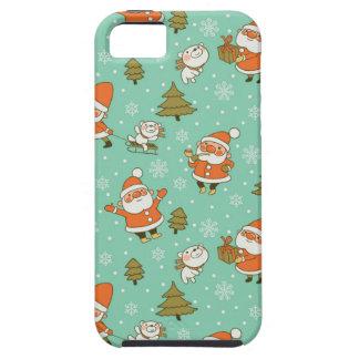 Santa and Teddy Bear Christmas Pattern. iPhone 5 Case
