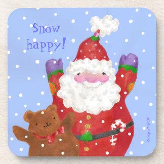Santa and teddy coaster