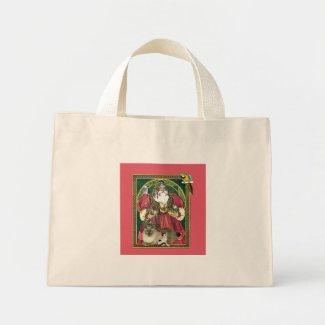 Santa And The Animals Mini Tote Bag