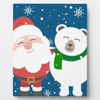 Santa and the Bear Plaque