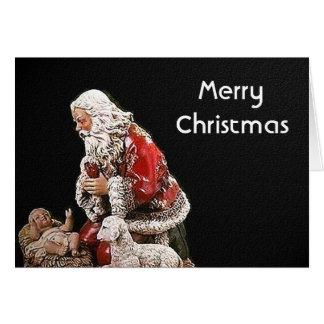 Santa and the Christ Child Christmas Card