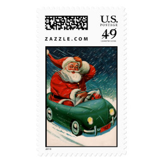 Santa and the e-car stamps