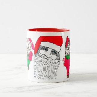 SANTA AND THE ELVES mug