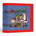 Santa and the gang 3 ring binder