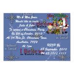 """Santa and the gang 5"""" x 7"""" invitation card"""