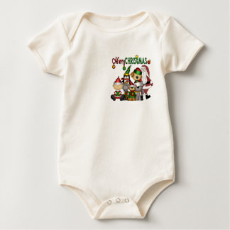 Santa and the gang baby bodysuit