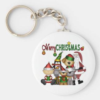 Santa and the gang keychain