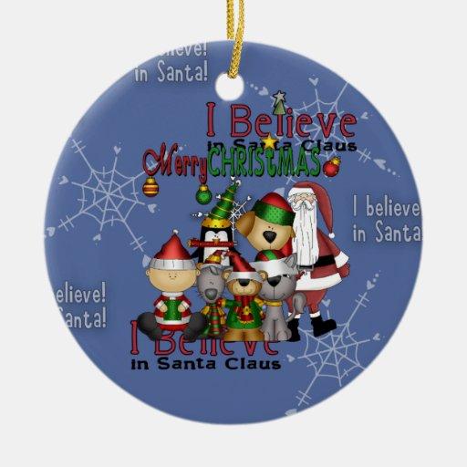 Santa and the gang ornament_circle christmas ornament