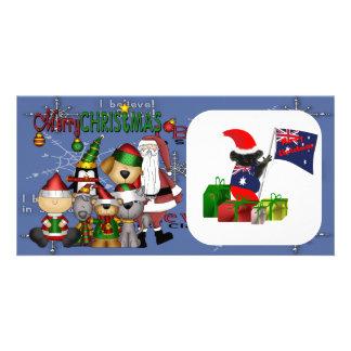 Santa and the gang photo card template