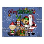 Santa and the gang post cards