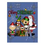 Santa and the gang postcard