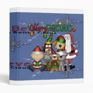 Santa and the gang vinyl binders