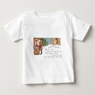 Santa and the little boy who should be asleep baby T-Shirt
