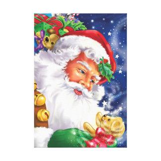 Santa and the Magic Bear Canvas Print