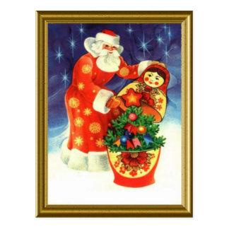 Santa, and the matryoshka post cards