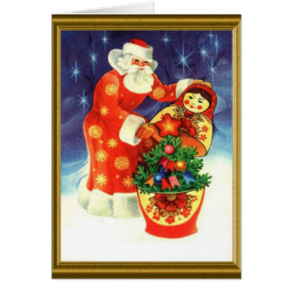 Santa and the matryoska cards