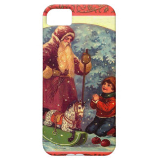 Santa and the rocking horse iPhone SE/5/5s case