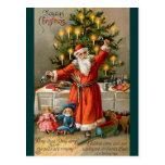 Santa And Toys postcard