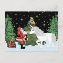Santa and Unicorn Magical Christmas Holiday