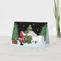 Santa and Unicorn Magical Christmas Holiday
