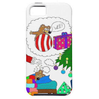 Santa and Yabba beside the Christmas tree iPhone SE/5/5s Case