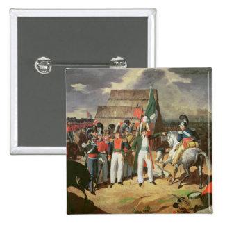 Santa Anna defies the Spanish troops Button
