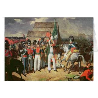 Santa Anna defies the Spanish troops Card