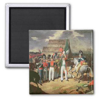 Santa Anna defies the Spanish troops Magnet