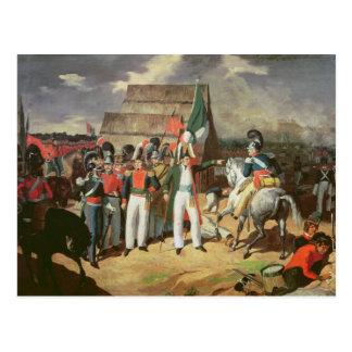 Santa Anna defies the Spanish troops Postcard