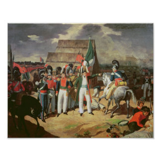 Santa Anna defies the Spanish troops Poster