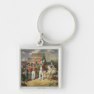 Santa Anna defies the Spanish troops Silver-Colored Square Keychain