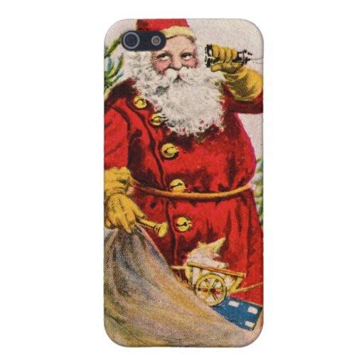 Santa antiguo en el teléfono iPhone 5 cobertura