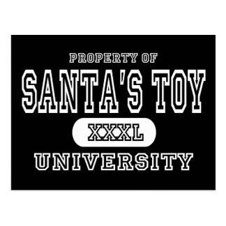 Santa's Toy Univeristy Dark Postcard