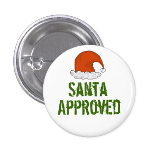 Santa Approved Christmas Buttons