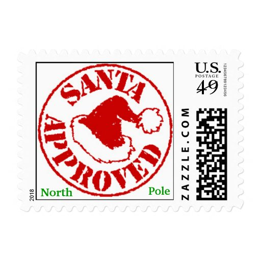 SANTA APPROVED Christmas Stamps from North Pole | Zazzle