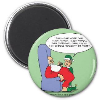 Santa Apps Fridge Magnets