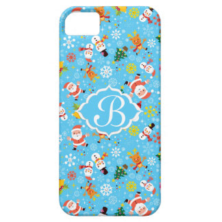 Santa, árbol de navidad del muñeco de nieve, acebo funda para iPhone SE/5/5s