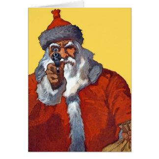 Santa:  Armado y listo Tarjeta De Felicitación