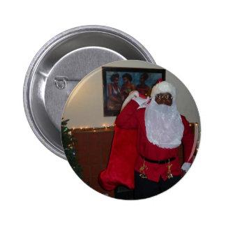 Santa Arrives!  Button