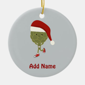 Santa Artichoke Runner Christmas Tree Ornaments