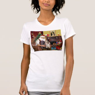 Santa At Home - Cairn Terriers (two) T-Shirt