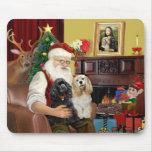 Santa At Home - Cocker Spaniels (two) Mouse Mats