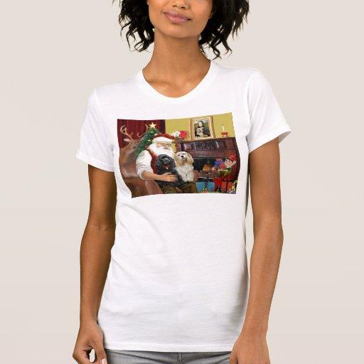 Santa At Home - Cocker Spaniels (two) T-shirts
