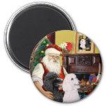 Santa At Home - Poodles (2 Standard) Magnet