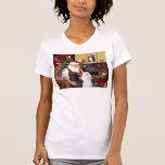 Santa At Home - Poodles (2 Standard) T Shirts