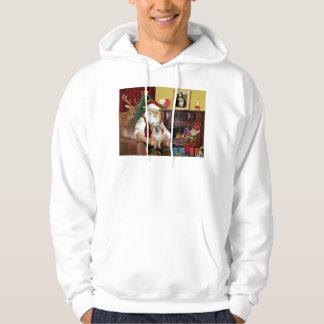 Santa At Home - Tibetan Spaniel 1 - Santa Hoodie