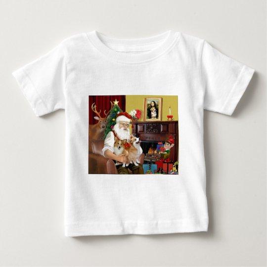 Santa At Home - Welsh Corgis (two) Baby T-Shirt