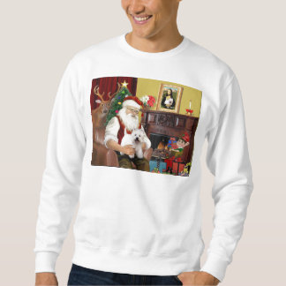 Santa At Home - West Highland Terrier 5 Sweatshirt
